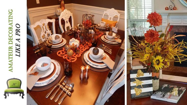Fall art diy using leaves rustic thanksgiving tablescape