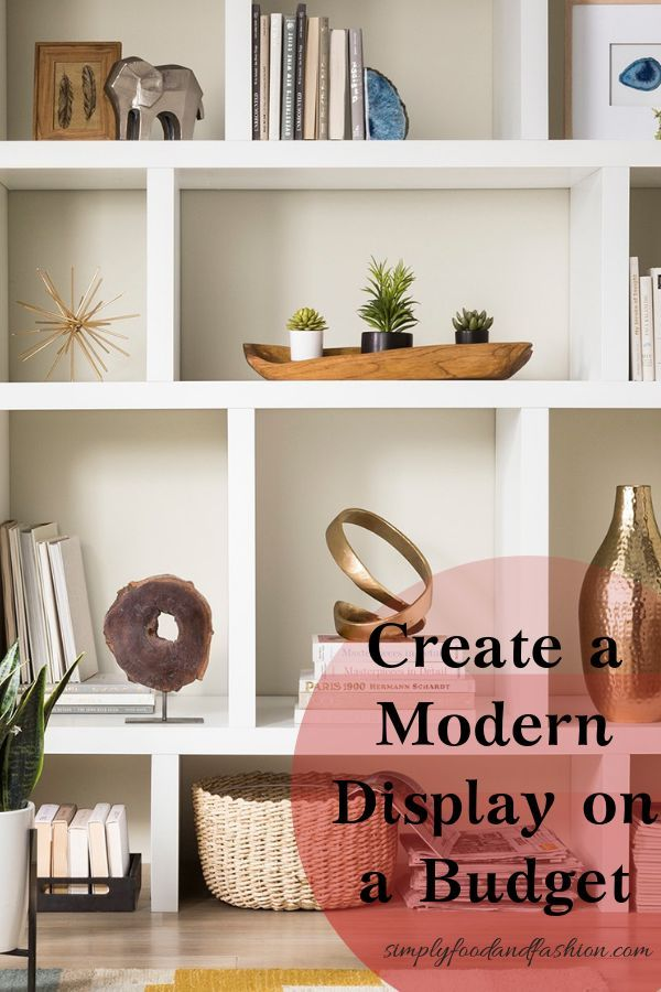 Modern Shelf Display Creation Made Easy With These Items Modern