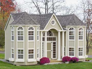 playhouse: Dreams, Plays House, Grandportico, Grand Porticos, Porticos Mansions, Kids, Mansions Playhouses, Outdoor Playhouses, Little Cottages