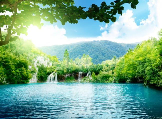 El parque de lagos Plitvice: Croacia