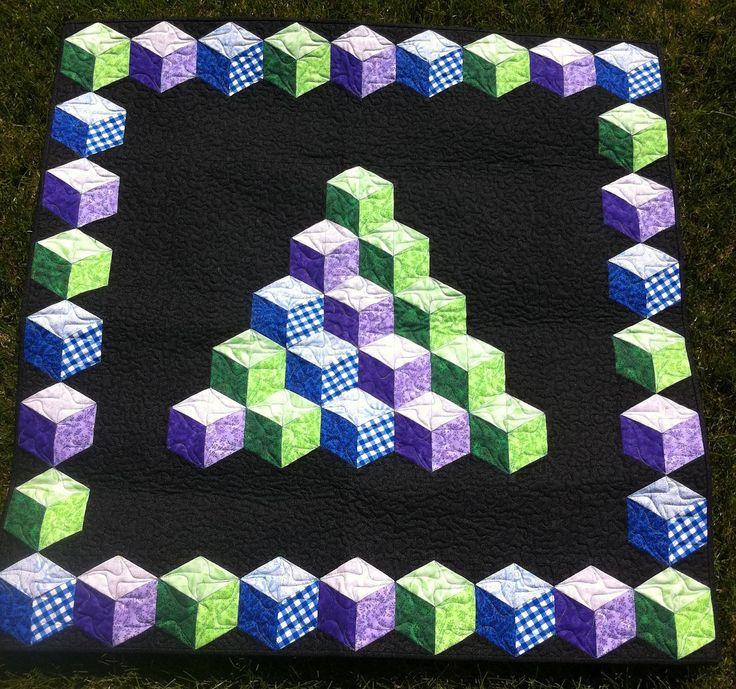Baby Blocks, Marci Baker pattern, seen at Ormond Beach Quilts