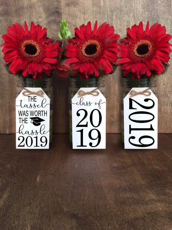 Graduation Tags, PRINTABLE TAGS PDF, Graduation Party, Table Centerpieces, 2019 Tags, Class of 2019, The Tassel Was Worth The Hassle, ROT001