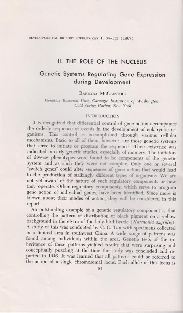 II. The Role of the Nucleus: Genetic Systems Regulating Gene Expression during Development