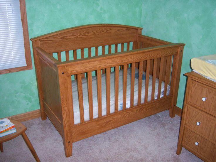 Baby crib wood plans pdf plans 8x10x12x14x16x18x20x22x24 for Shaker bed plans