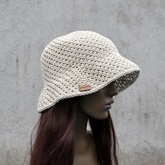 Linen Bucket Hat Sunhat, Summer Spring Sunhat, Cool Hat, Hippie Hat, Natural Linen Hat by acrazysheep. Explore more products on http://acrazysheep.etsy.com