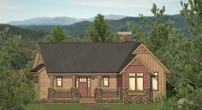 Plan 61403EV: Three-bed Exclusive Mountain Home Plan with Open Concept Living