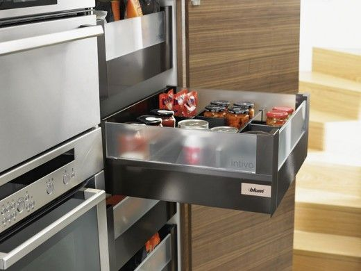 Carry the design of your kitchen into the interior of your cabinets