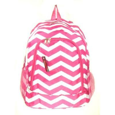 White Mcm Bookbag. Chevron Print Backpack Hot Pink.  #white #mcm #bookbag #whitemcm #mcmbookbag