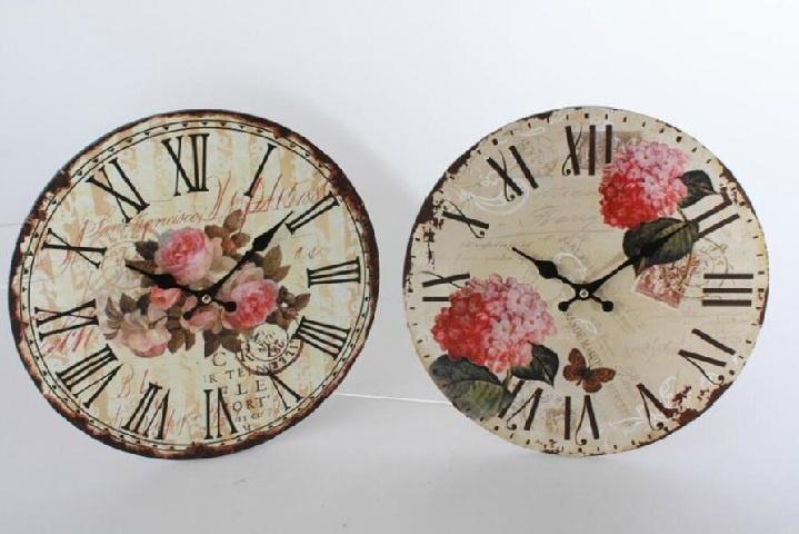 Relojes de pared de madera estilo vintage cosas para - Reloj pared madera ...