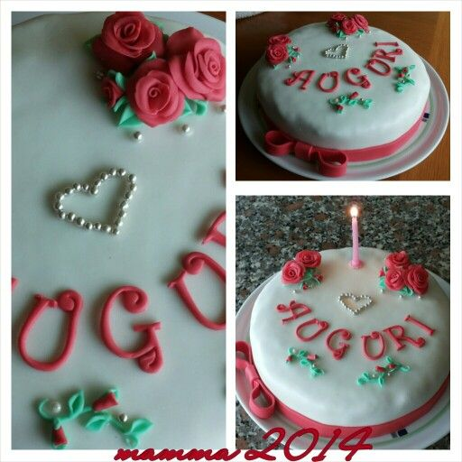 Dolci rose rosse  -  comply Mamma 2014 torta di compleanno decorata con rose rosse - birthday cake decorated with roses