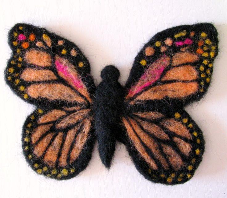 Monarch Butterfly felt ornament