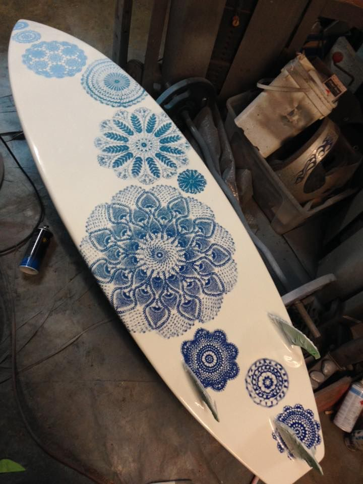Painted surf board