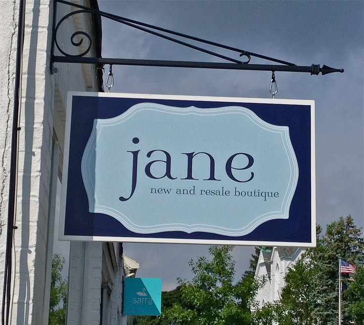 Outdoor Sign For Jane S Boutique Retail Display Ideas