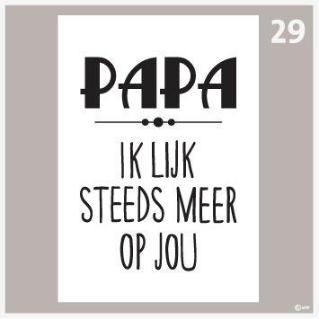Tekstposter-Papa ik lijk heel veel op jou 29
