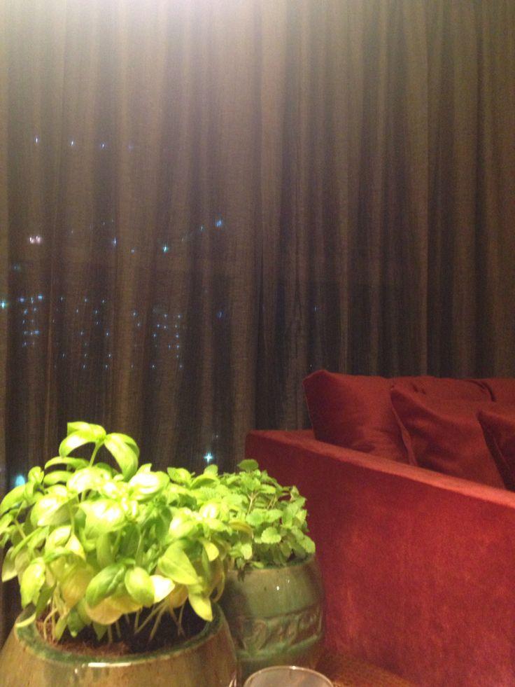 Dubai flat basil detail