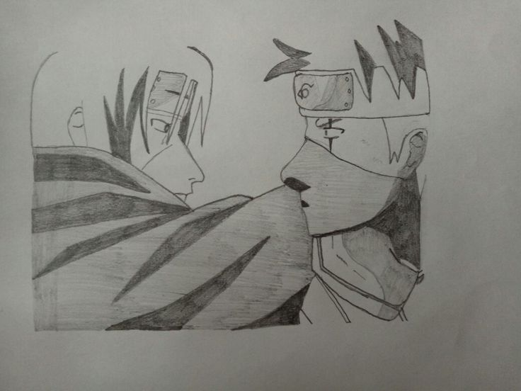 Itachi And Kakashi In Battle Naruto Art Manga Anime Naruto Drawings