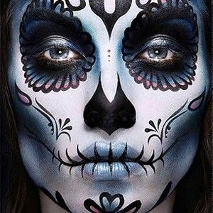 61 best ideas about halloween makeup on pinterest little mermaid makeup skeleton makeup - Mexikanische totenmaske schminken ...