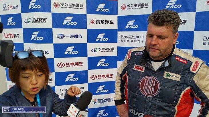Martin Kolomy se zlatě zapsal do historie China Truck Racing Championship