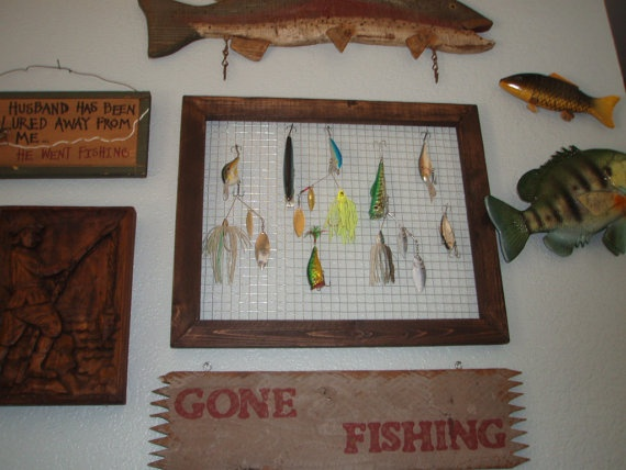 KONA stain Decorative Fishing Lure Display by OldFashionedBender, $33.00