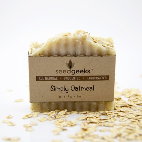 Simply Oatmeal Handcrafted Soap - All Natural Soap, Unscented Soap, Handmade Soap, Vegan Soap, Cold Process Soap
