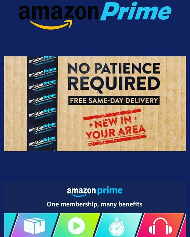 Amazon Prime Is A Package Of Benefits Same Day Delivery Is One Of Them Where You Click It And Get It Within Hrs Amazonprime How To Get Amazon Prime Delivery