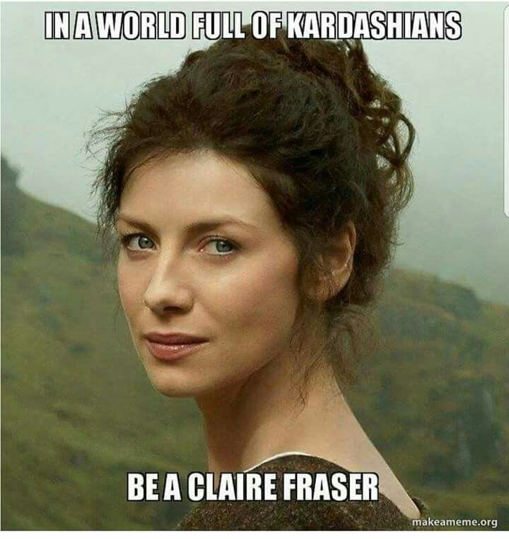 That's for sure! Claire is a woman of substance, not substances...
