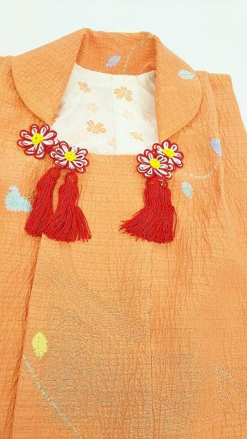 被布の裏地はおばあちゃまの羽織りの裏を再利用です