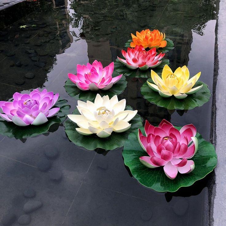 1pc Colorful Home Artificial Fake Lotus Simulation…