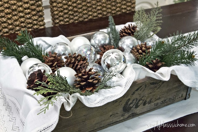 Yellow Bliss Road: Rustic Glam Christmas Centerpiece