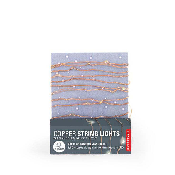 Buy the Copper String Lights at Oliver Bonas. Enjoy free UK standard delivery for orders over £50.