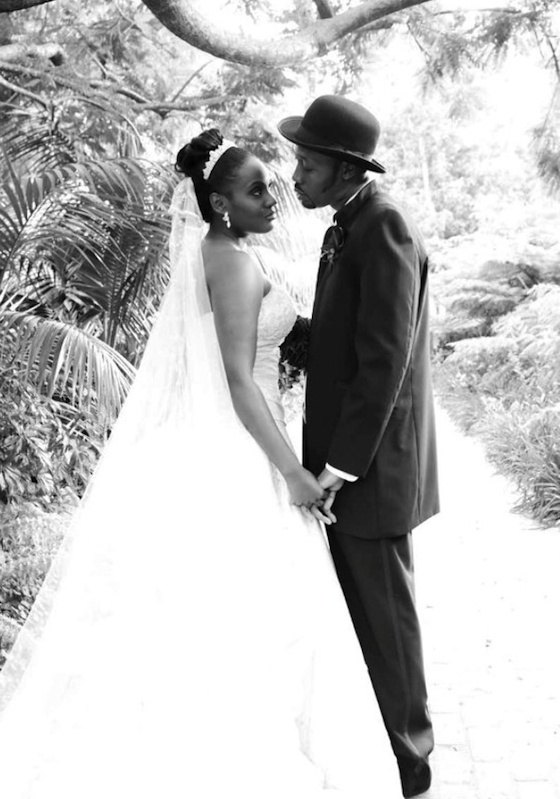 Rza from Wu Tang Clan & wife Talani. Gorgeous wedding pic #blacklove