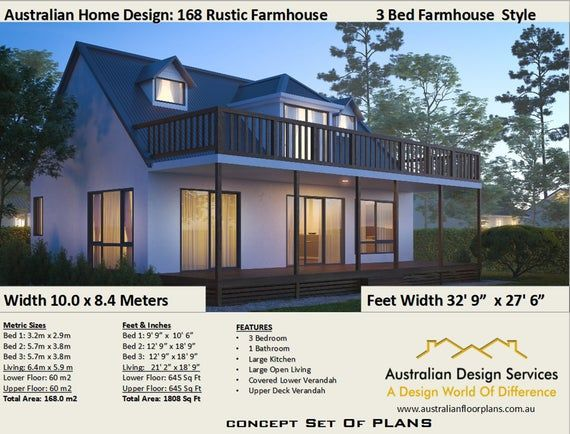3 Bedroom Rustic Farmhouse 120 M2 Or 1290 Sq Foot Living Area Small Tiny House Plan Concept House Plans Sale Rustic House Plans Cottage House Plans Barn House Plans