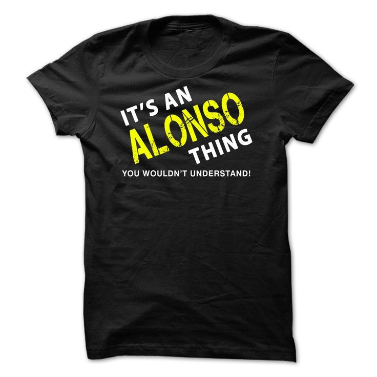 It is an ALONSO Thing Tee