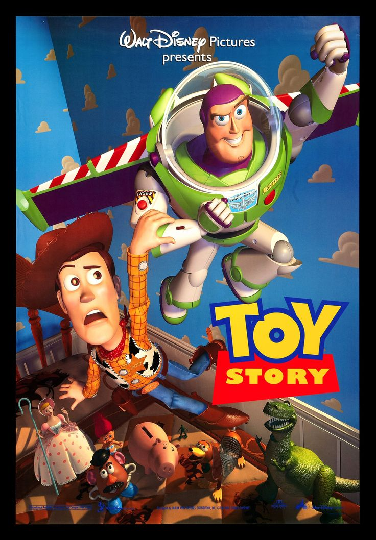 movies posters 1995 | Toy Story Disney Original Movie Poster 1995 Pixar | eBay