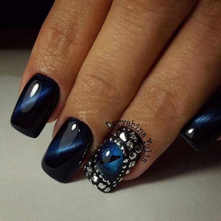 10 best images about cat eye nails on Pinterest | Indigo ...