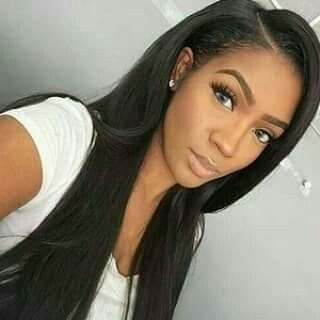 "Affordable luxury 100% virgin hair starting at $55/bundle in the USA. Achieve this look with our luxury line of Malaysian Light Yaki Straight hair extensions, available in lengths 12"" - 26"". www.vipextensionbar.com email info@vipextensionbar.com"