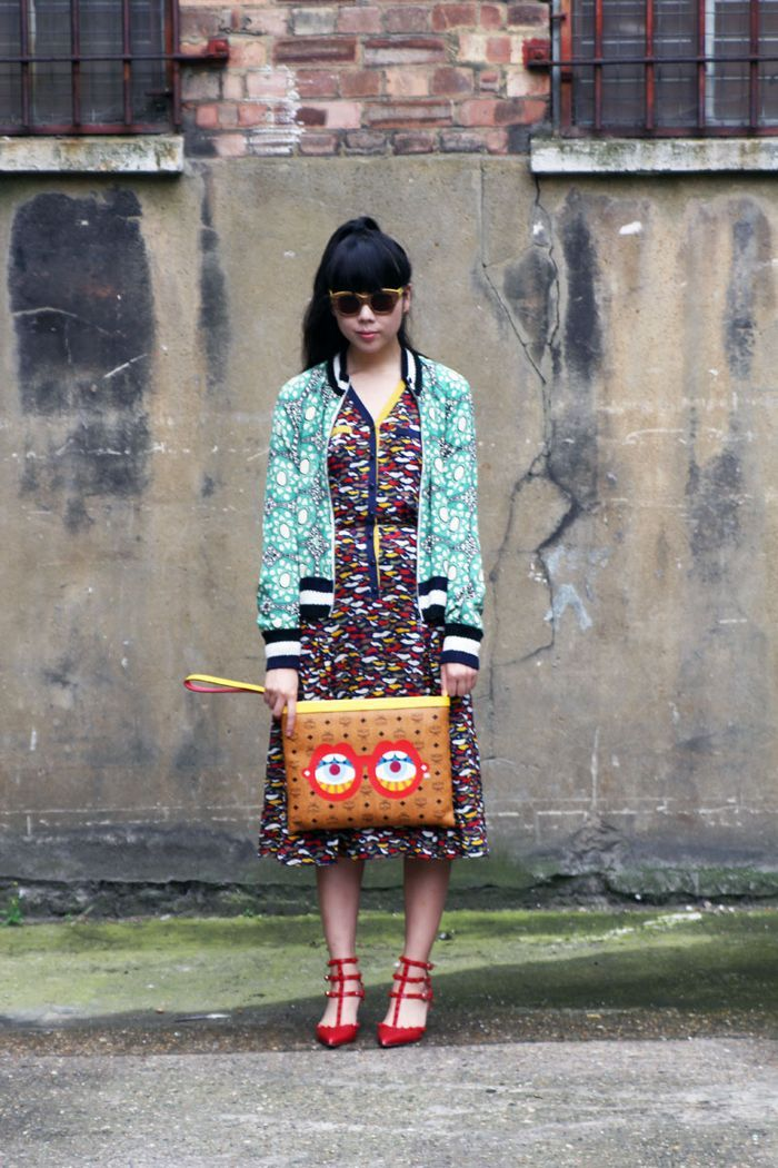 I love Susie Bubble's irreverent style and her red shoes!