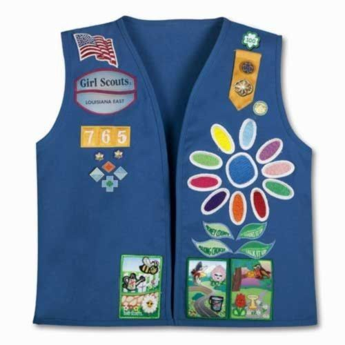 where to sew badges girl scout daisy vest - Google Search