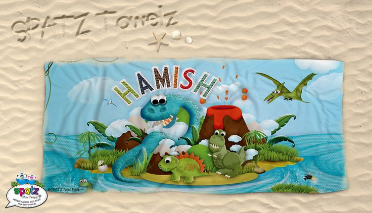 Featuring your child's name SPATZ Mini Peeps® Personalised Kids Beach Towels make finding your beach towel on those busy beaches a breeze. They are  great for pool time, swimming lessons or a day at the beach!