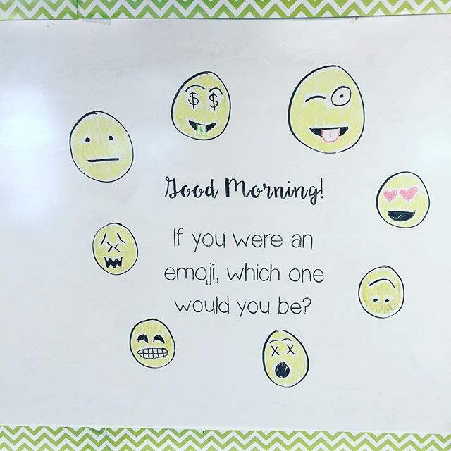 Good Morning Monday-white board messages