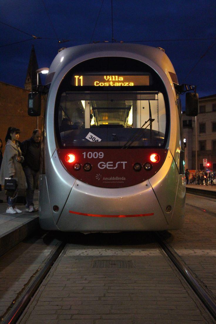 A tram awaits departure at Santa Maria Novella in Florence. #tram #lightrail #florence #firenze #breda