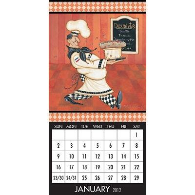 Bon Appetit 2012 Magnetic Mount Wall Calendar