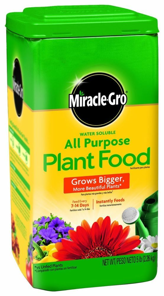 Plant food miracle gro fertilizer feed soil garden all for Indoor gardening nutrients