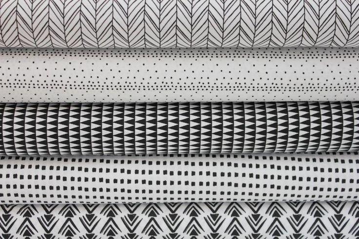 BAVLNĚNÁ PLÁTNA | Černobílá kolekce - tečky v řadách | LÁTKY METRÁŽ | PATCHWORK | GALANTERIE