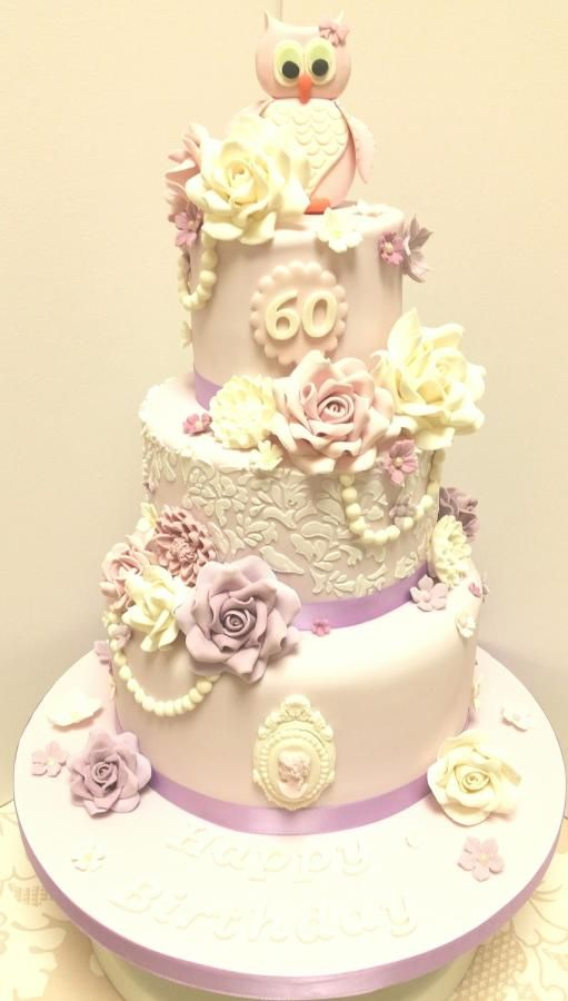 Mum's 60th Lilac Suprise - Cake by mike525