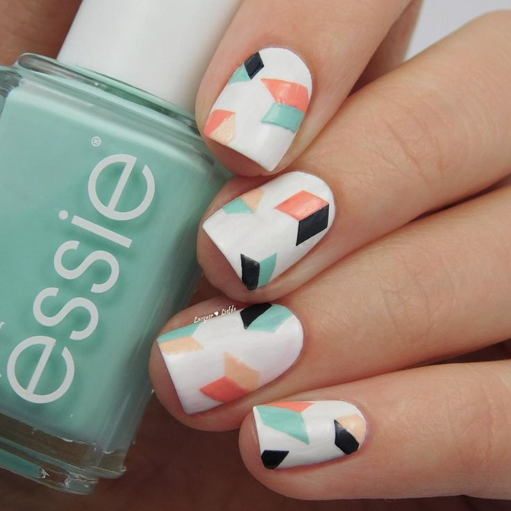 geometric nailart nails lacquer liefde