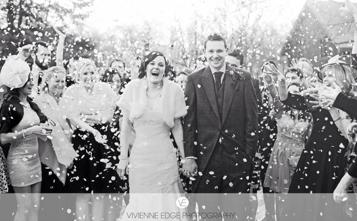 Becky and dans wedding confetti shot