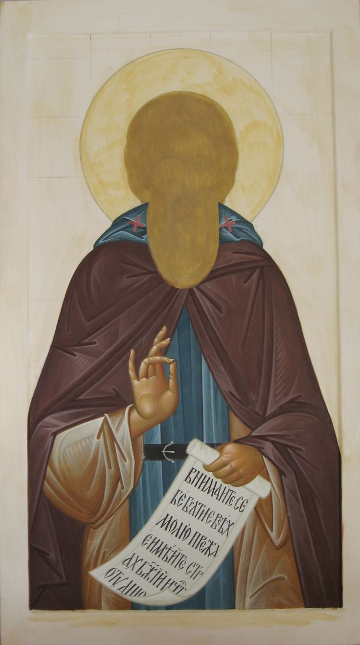 The process of writing icons of St. Sergius of Radonezh, iconographer Vladimir Frontinsky (taken from the site http://azbyka.ru/frontinskiy/) Books on technology of icon painting in Russian and English languages: http://www.versta-k.ru/en/catalog/66/