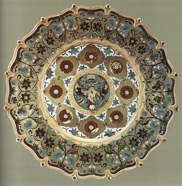 russianEnamels-Тарелка золотая. 1667 г. Мастерские Московского Кремля