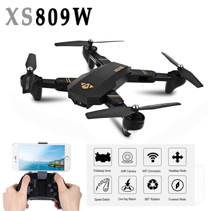 RC Toy Drone With Camera Mini XS809W Foldable Selfie Wifi Real Time FPV